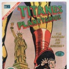 Tebeos: TITANES PLANETARIOS # 345 NOVARO 1971 AMENAZA DEL SER ESPACIAL REVUELTA DE LAS NAVES EXCELENTE. Lote 165482610