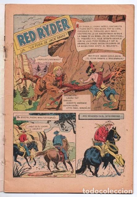 Tebeos: RED RYDER # 222 NOVARO 1970 CASTORCITO LA FUGA DE JACK DAVIS MUY BUEN ESTADO - Foto 2 - 166001714
