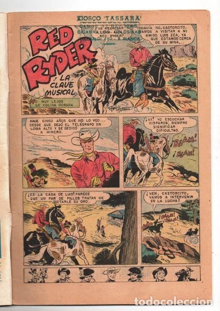 Tebeos: RED RYDER # 272 NOVARO 1972 IGUAL # 8 DE 1955 FRED HARMAN CASTORCITO LA CLAVE MUSICAL MUY BUEN ESTAD - Foto 2 - 166010966
