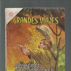 Tebeos: GRANDES VIAJES 16: PRIMERAS EXPLORACIONES DE STANLEY, 1964, NOVARO. COLECCIÓN A.T.. Lote 166083134