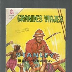 Tebeos: GRANDES VIAJES 19: STANLEY EN LAS SELVAS TENEBROSAS, 1964, NOVARO, BUEN ESTADO. COLECCIÓN A.T.. Lote 166083378