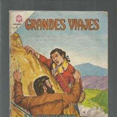 Tebeos: GRANDES VIAJES 21: LA CONDAMINE EN LA ÁMERICA DEL SUR, 1964, NOVARO. COLECCIÓN A.T.. Lote 166083906