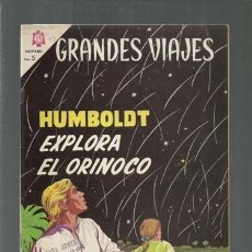 Tebeos: GRANDES VIAJES 23: HUMBOLDT EXPLORA EL ORINOCO, 1964, NOVARO, BUEN ESTADO. COLECCIÓN A.T.. Lote 166084442