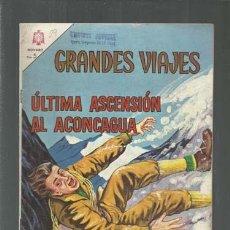 Tebeos: GRANDES VIAJES 29: ÚLTIMA ASCENSIÓN AL ACONCAGUA, 1965, NOVARO, BUEN ESTADO. COLECCIÓN A.T.. Lote 166085706