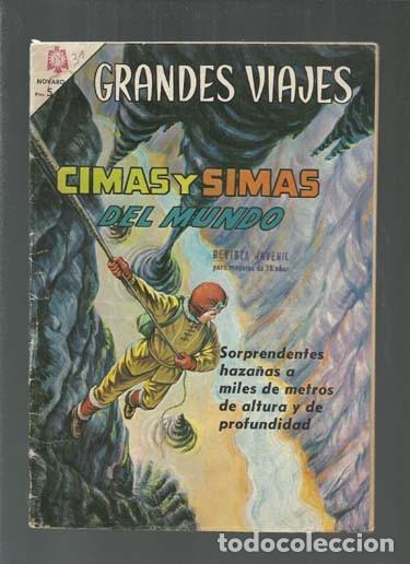 GRANDES VIAJES 31: CIMAS Y SIMAS DEL MUNDO, 1965, BUEN ESTADO, NOVARO. COLECCIÓN A.T. (Tebeos y Comics - Novaro - Grandes Viajes)