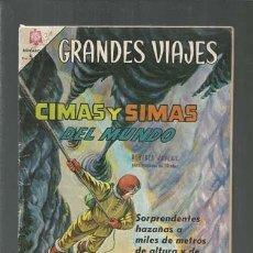Tebeos: GRANDES VIAJES 31: CIMAS Y SIMAS DEL MUNDO, 1965, BUEN ESTADO, NOVARO. COLECCIÓN A.T.. Lote 166086230