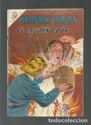 GRANDES VIAJES 32: EL CAPITÁN COOK, 1965, NOVARO, BUEN ESTADO. COLECCIÓN A.T. (Tebeos y Comics - Novaro - Grandes Viajes)