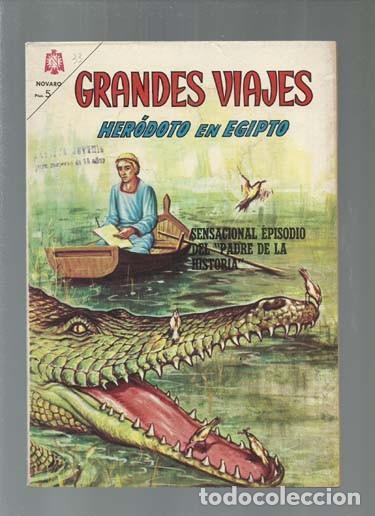 GRANDES VIAJES 33: HERÓDOTO EN EGIPTO, 1965, NOVARO, BUEN ESTADO.COLECCIÓN A.T. (Tebeos y Comics - Novaro - Grandes Viajes)