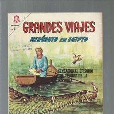 Tebeos: GRANDES VIAJES 33: HERÓDOTO EN EGIPTO, 1965, NOVARO, BUEN ESTADO.COLECCIÓN A.T.. Lote 166086646