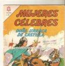 Tebeos: MUJERES CELEBRES Nº 40 TEBEO ORIGINAL 1964 DOÑA URRACA DE CASTILLA EDIT. NOVARO . Lote 166892904