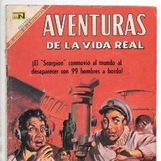 Tebeos: AVENTURAS DE LA VIDA REAL # 157 NOVARO 1969 LA TRAGEDIA DEL SUBMARINO SCORPION CON DETALLES . Lote 167181752