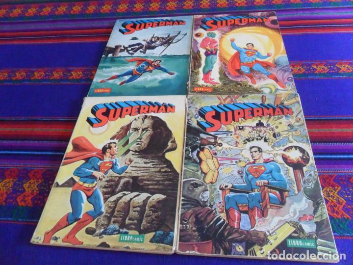 NOVARO SUPERMAN LIBRO COMIC LIBROOMIC NºS V VI VIII Y X 5 6 8 Y 10. 50 PTS. 1974. (Tebeos y Comics - Novaro - Superman)