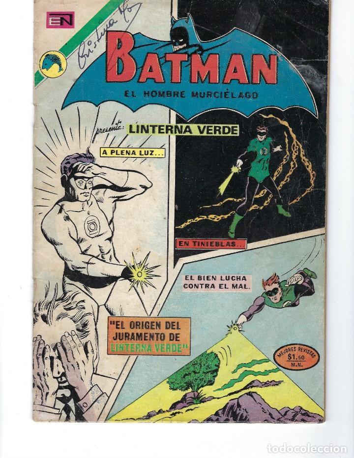BATMAN - EL HOMBRE MURCIÉLAGO, AÑO XXI, Nº 656, 16 DE NOVIEMBRE DE 1972 ***EDITORIAL NOVARO*** (Tebeos y Comics - Novaro - Batman)