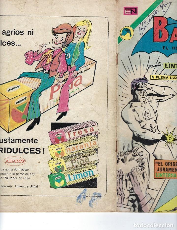 Tebeos: BATMAN - EL HOMBRE MURCIÉLAGO, AÑO XXI, Nº 656, 16 DE NOVIEMBRE DE 1972 ***EDITORIAL NOVARO*** - Foto 3 - 167921240