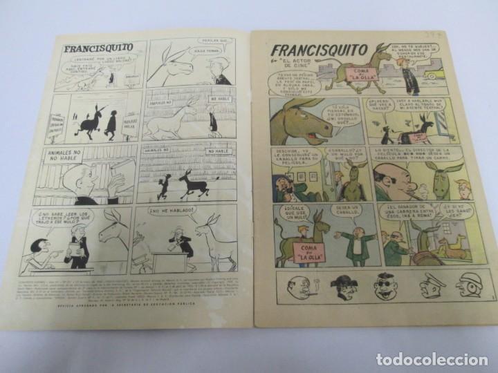 Tebeos: DOMINGOS ALEGRES. FRANCISQUITO. EL MULO PARLANCHIN. Nº 321. 1960. EDITORIAL NOVANO - Foto 3 - 168713196
