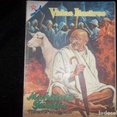 Tebeos: VIDAS ILUSTRES MAHATMA GANDHI N.23 1958 FORJADOR DE LA INDIA. Lote 169060928