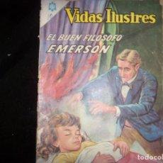 Tebeos: VIDAS ILUSTRES N.126 1965 EMERSON GRAN FILOSOFO.. Lote 169061092