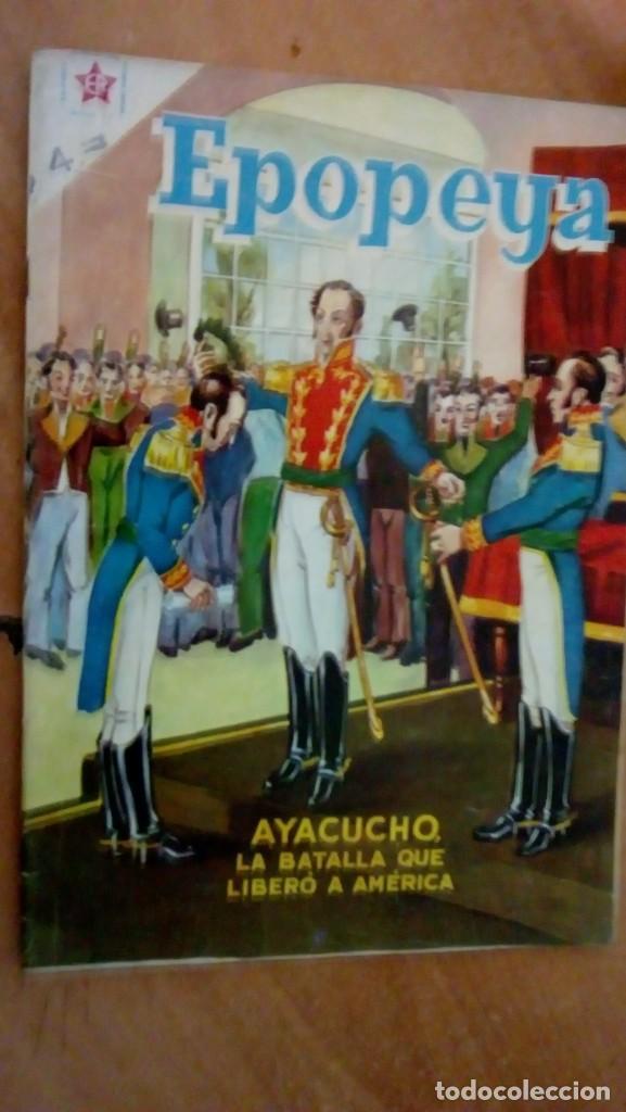 EPOPEYA N.4 1958 SIMON BOLIVAR -AYACUCHO- (Tebeos y Comics - Novaro - Epopeya)