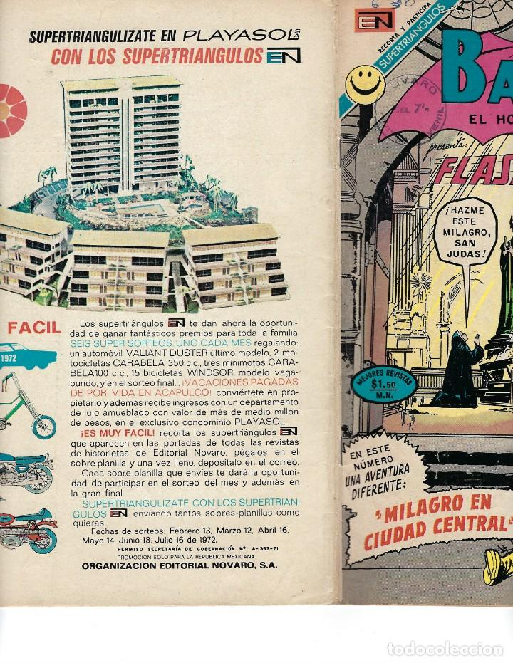 Tebeos: BATMAN - EL HOMBRE MURCIÉLAGO, AÑO XX, Nº 630, 18 DE MAYO DE 1972 ***EDITORIAL NOVARO*** - Foto 3 - 169296768