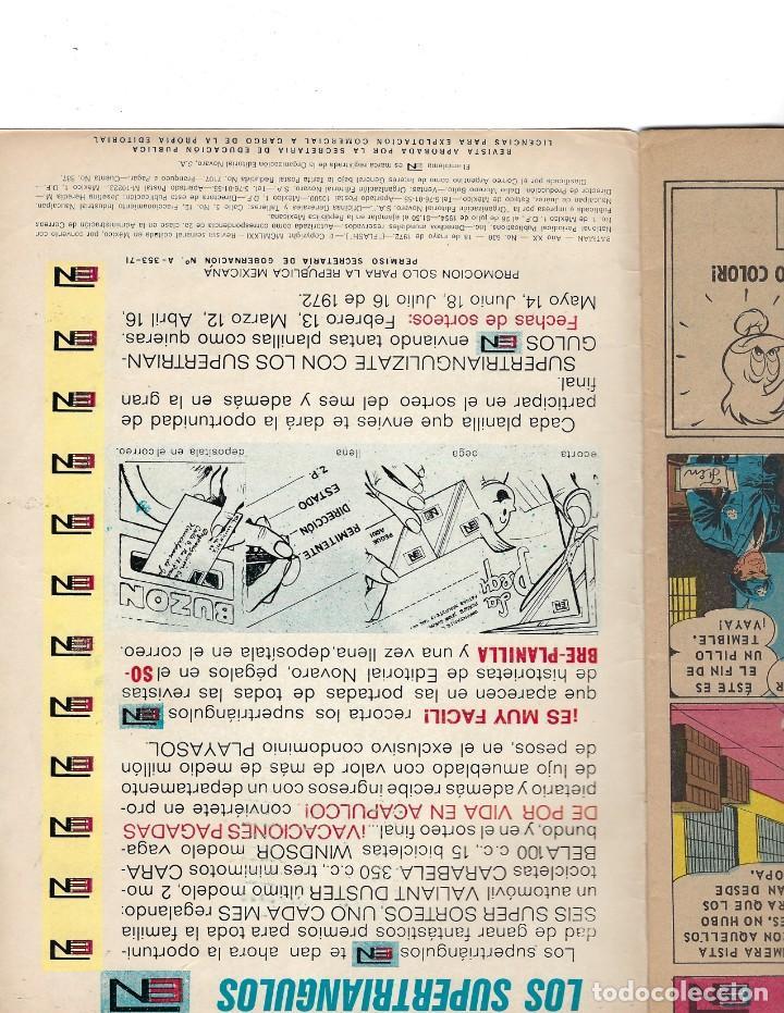 Tebeos: BATMAN - EL HOMBRE MURCIÉLAGO, AÑO XX, Nº 630, 18 DE MAYO DE 1972 ***EDITORIAL NOVARO*** - Foto 6 - 169296768