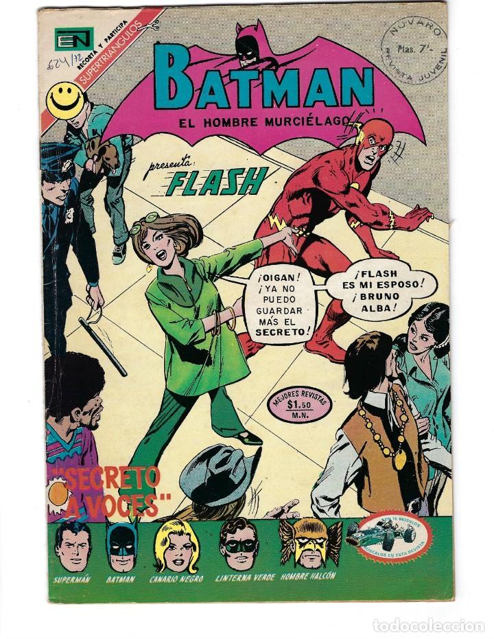 BATMAN - EL HOMBRE MURCIÉLAGO, AÑO XX, Nº 624, 6 DE ABRIL DE 1972 ***EDITORIAL NOVARO*** (Tebeos y Comics - Novaro - Batman)