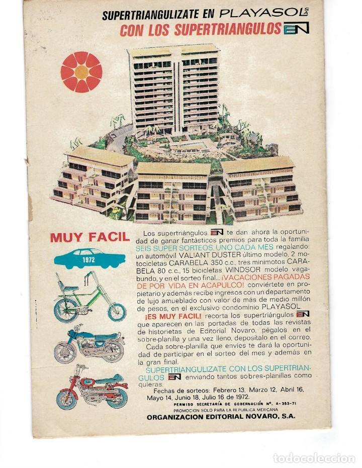 Tebeos: BATMAN - EL HOMBRE MURCIÉLAGO, AÑO XX, Nº 624, 6 DE ABRIL DE 1972 ***EDITORIAL NOVARO*** - Foto 2 - 169297196