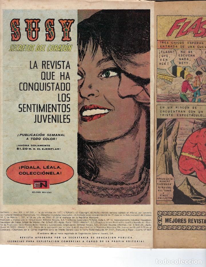Tebeos: BATMAN - EL HOMBRE MURCIÉLAGO, AÑO XIX, Nº 599, 14 DE OCTUBRE DE 1971 ***EDITORIAL NOVARO*** - Foto 5 - 169545448
