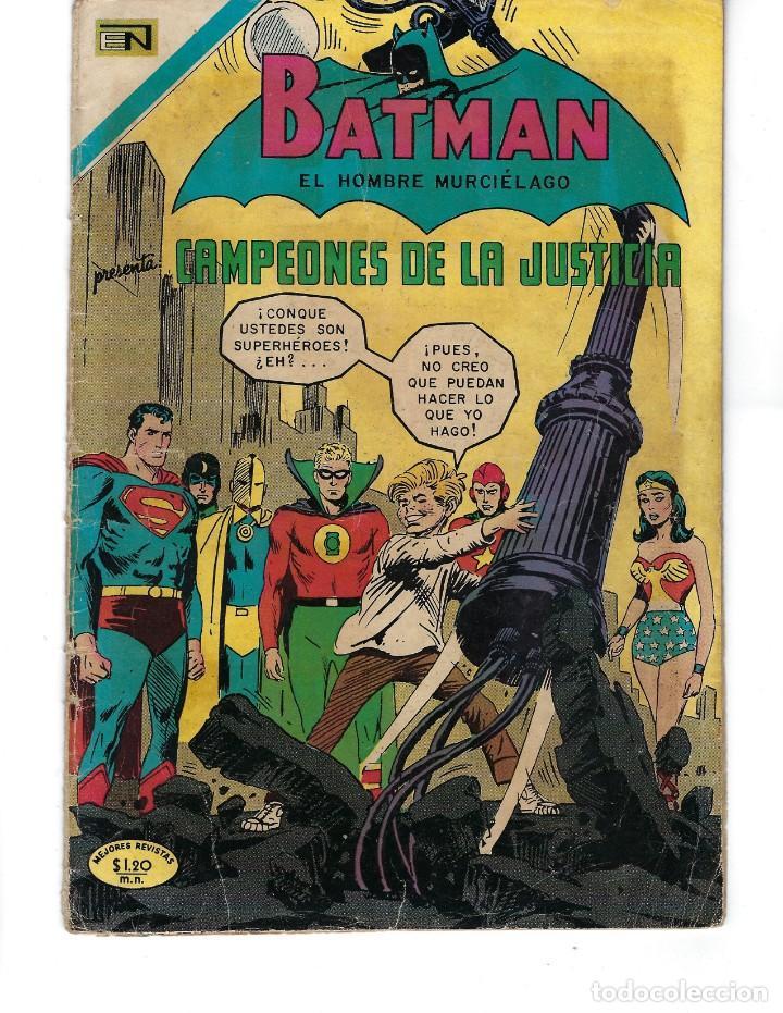BATMAN - EL HOMBRE MURCIÉLAGO, AÑO XVIII, Nº 563, 24 DE DICIEMBRE DE 1970***EDITORIAL NOVARO*** (Tebeos y Comics - Novaro - Batman)