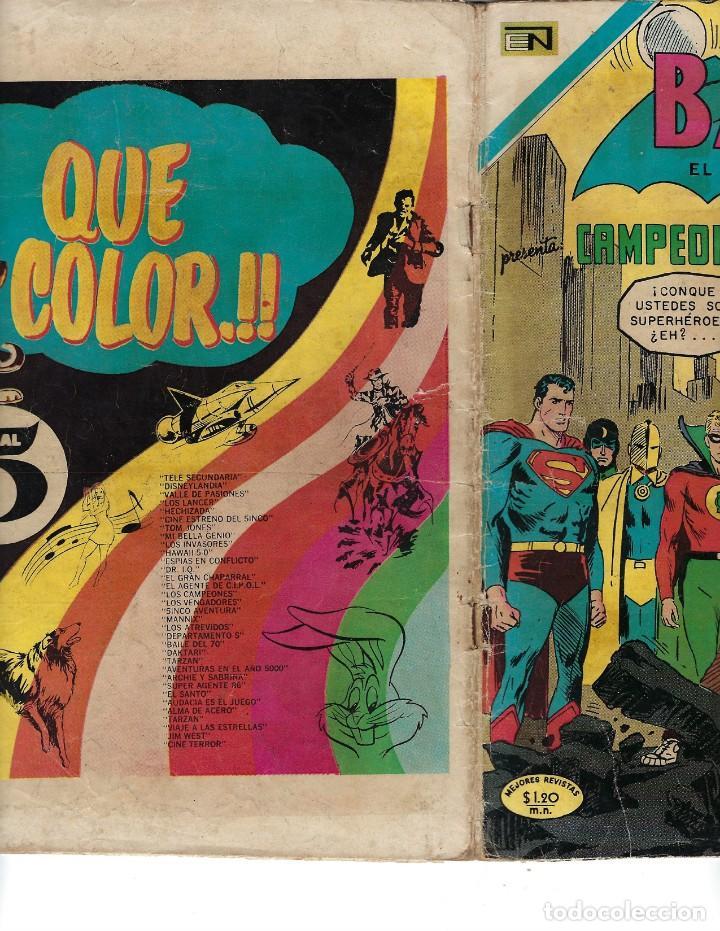 Tebeos: BATMAN - EL HOMBRE MURCIÉLAGO, AÑO XVIII, Nº 563, 24 DE DICIEMBRE DE 1970***EDITORIAL NOVARO*** - Foto 3 - 169551676
