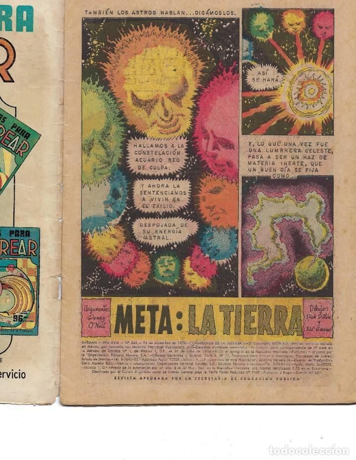 Tebeos: BATMAN - EL HOMBRE MURCIÉLAGO, AÑO XVIII, Nº 563, 24 DE DICIEMBRE DE 1970***EDITORIAL NOVARO*** - Foto 5 - 169551676