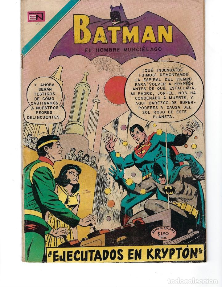 BATMAN - EL HOMBRE MURCIÉLAGO, AÑO XVIII, Nº 556, 5 DE NOVIEMBRE DE 1970***EDITORIAL NOVARO*** (Tebeos y Comics - Novaro - Batman)