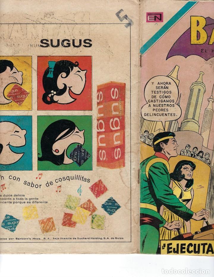 Tebeos: BATMAN - EL HOMBRE MURCIÉLAGO, AÑO XVIII, Nº 556, 5 DE NOVIEMBRE DE 1970***EDITORIAL NOVARO*** - Foto 3 - 169553596