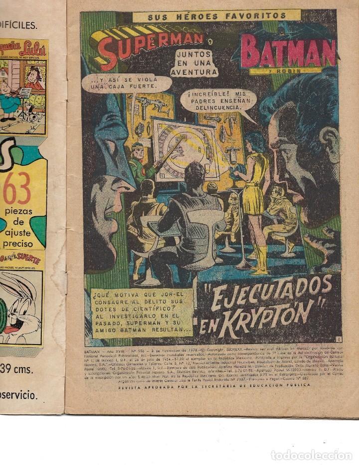 Tebeos: BATMAN - EL HOMBRE MURCIÉLAGO, AÑO XVIII, Nº 556, 5 DE NOVIEMBRE DE 1970***EDITORIAL NOVARO*** - Foto 5 - 169553596