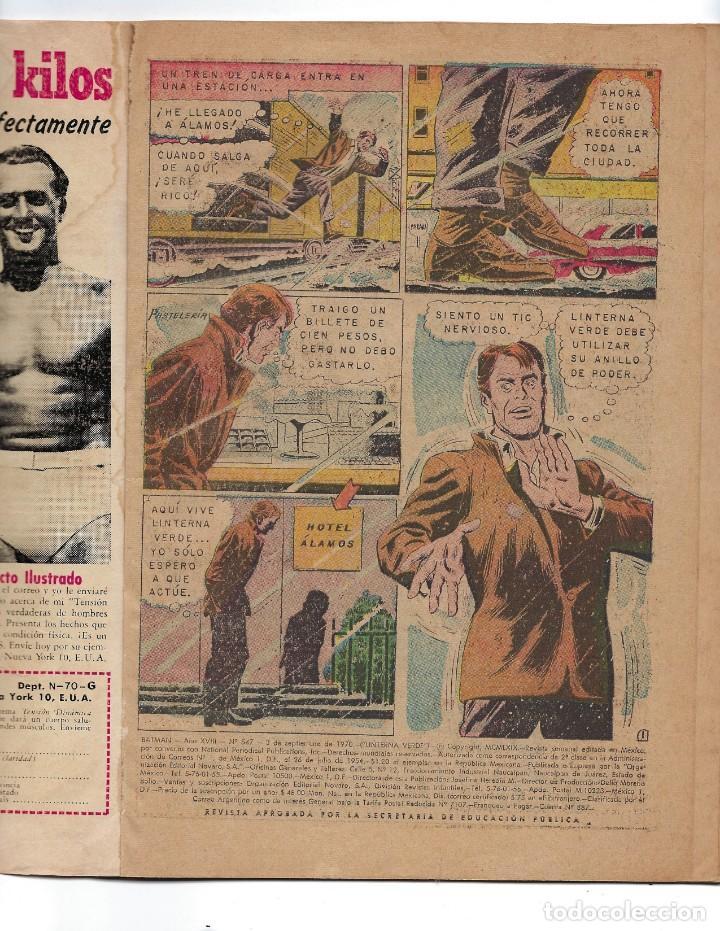 Tebeos: BATMAN - EL HOMBRE MURCIÉLAGO, AÑO XVIII, Nº 547, 3 DE SEPTIEMBRE DE 1970***EDITORIAL NOVARO*** - Foto 5 - 169556296