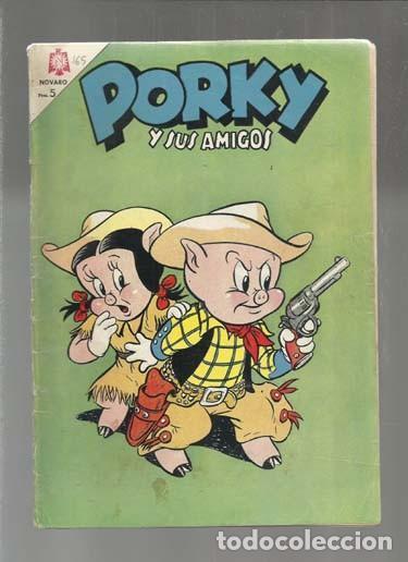 PORKY Y SUS AMIGOS 165, 1965, NOVARO, BUEN ESTADO. COLECCIÓN A.T. (Tebeos y Comics - Novaro - Porky)