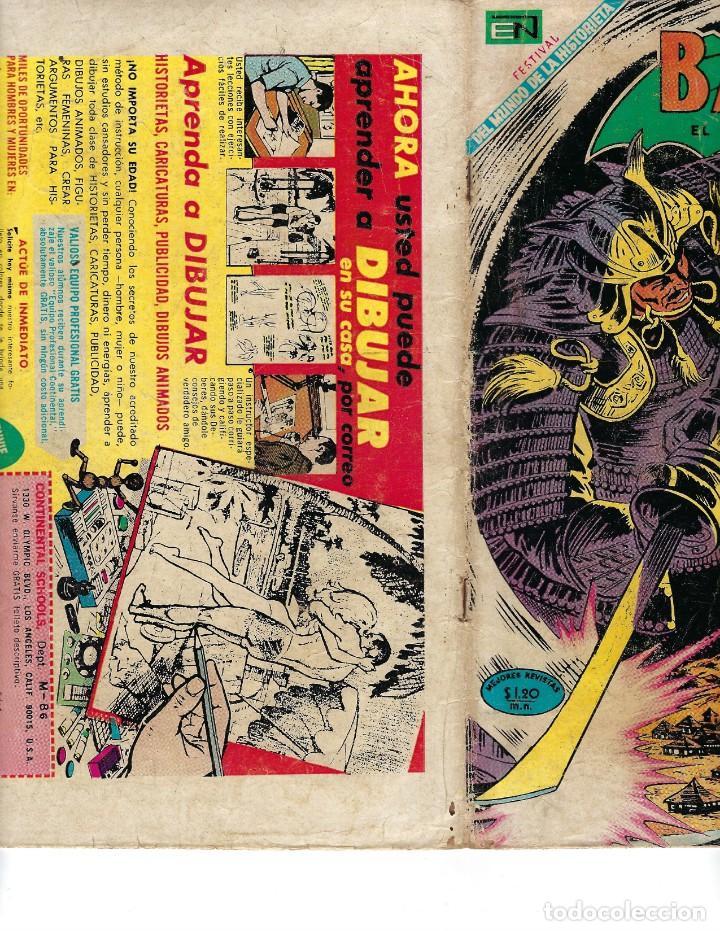 Tebeos: BATMAN - EL HOMBRE MURCIÉLAGO, AÑO XVII, Nº 493, 21 DE AGOSTO DE 1969 ***EDITORIAL NOVARO*** - Foto 3 - 170055988