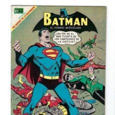 Tebeos: BATMAN - EL HOMBRE MURCIÉLAGO, AÑO XVII, Nº 482, 5 DE JUNIO DE 1969 ***EDITORIAL NOVARO***. Lote 170056580