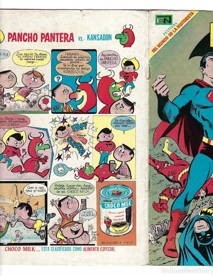 Tebeos: BATMAN - EL HOMBRE MURCIÉLAGO, AÑO XVII, Nº 482, 5 DE JUNIO DE 1969 ***EDITORIAL NOVARO*** - Foto 3 - 170056580