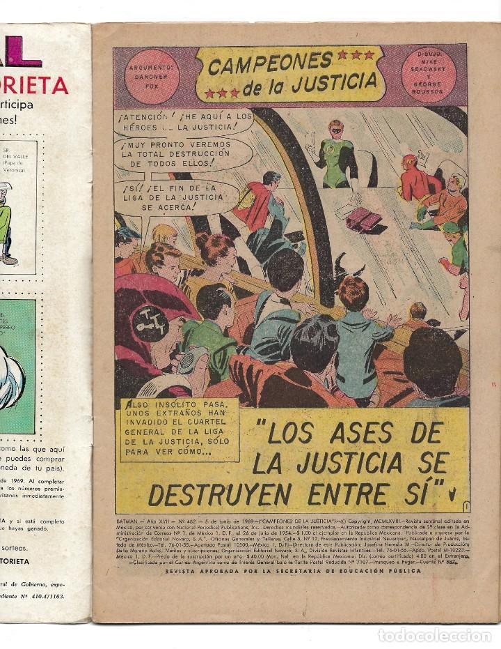 Tebeos: BATMAN - EL HOMBRE MURCIÉLAGO, AÑO XVII, Nº 482, 5 DE JUNIO DE 1969 ***EDITORIAL NOVARO*** - Foto 5 - 170056580