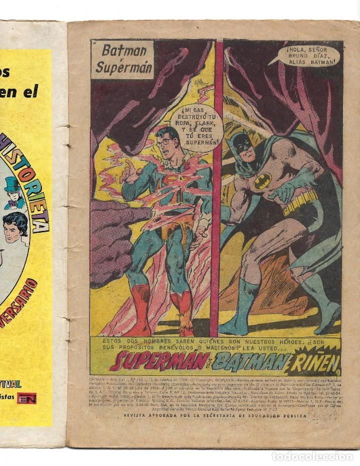 Tebeos: BATMAN - EL HOMBRE MURCIÉLAGO, AÑO XVI, Nº 466, 13 DE FEBRERO DE 1969 ***EDITORIAL NOVARO*** - Foto 5 - 170057036