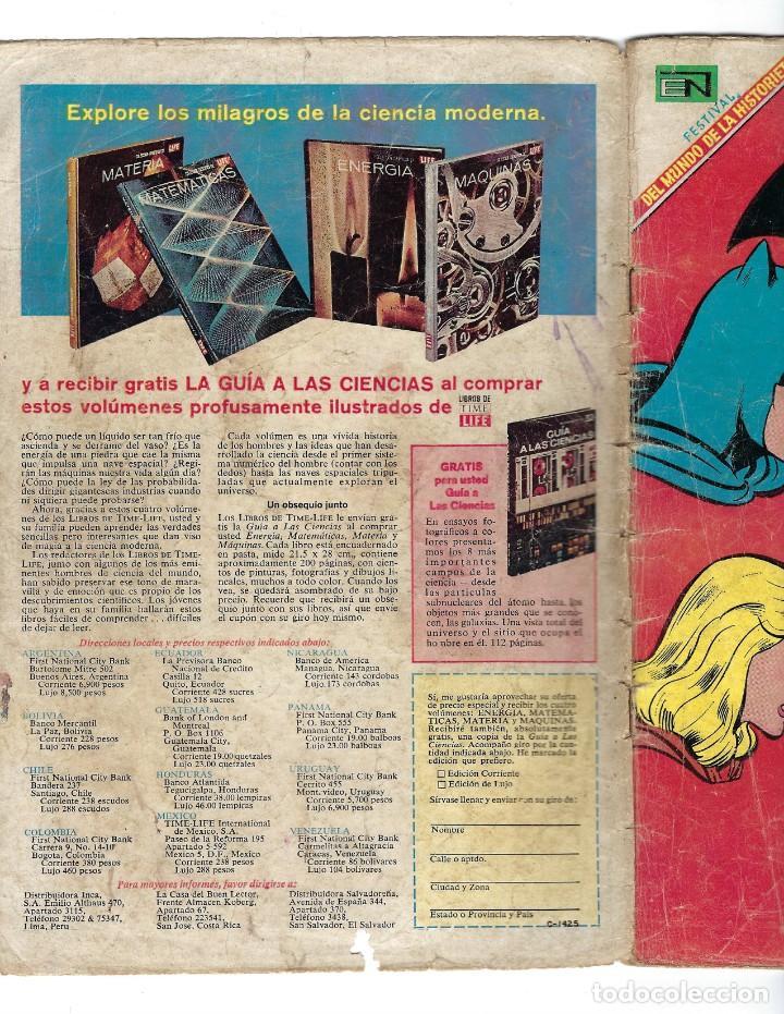 Tebeos: BATMAN - EL HOMBRE MURCIÉLAGO, AÑO XVI, Nº 466, 13 DE FEBRERO DE 1969 ***EDITORIAL NOVARO*** - Foto 6 - 170057036