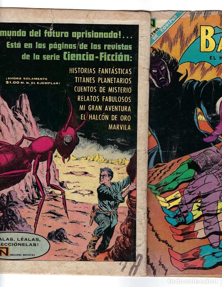 Tebeos: BATMAN - EL HOMBRE MURCIÉLAGO, AÑO XVI, Nº 448, 10 DE OCTUBRE DE 1968 ***EDITORIAL NOVARO*** - Foto 3 - 170057616