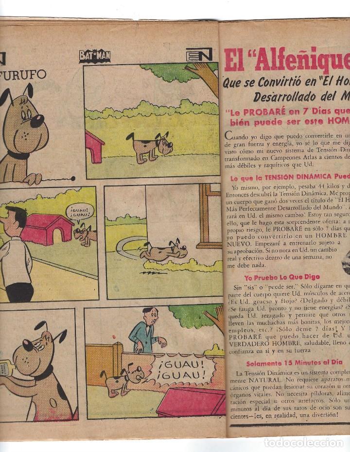 Tebeos: BATMAN - EL HOMBRE MURCIÉLAGO, AÑO XVI, Nº 448, 10 DE OCTUBRE DE 1968 ***EDITORIAL NOVARO*** - Foto 4 - 170057616