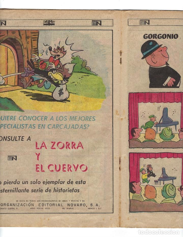 Tebeos: BATMAN - EL HOMBRE MURCIÉLAGO, AÑO XVI, Nº 434, 4 DE JULIO DE 1968 ***EDITORIAL NOVARO*** - Foto 4 - 170058040
