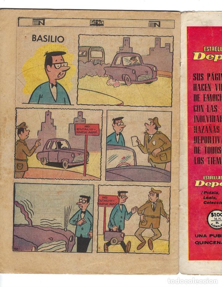 Tebeos: BATMAN - EL HOMBRE MURCIÉLAGO, AÑO XVI, Nº 434, 4 DE JULIO DE 1968 ***EDITORIAL NOVARO*** - Foto 6 - 170058040