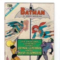 Tebeos: BATMAN - EL HOMBRE MURCIÉLAGO, AÑO XV, Nº 419, 21 DE MARZO DE 1968 ***EDITORIAL NOVARO***. Lote 170059004
