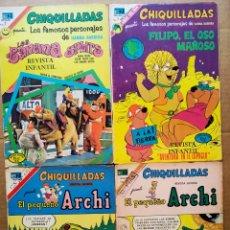 Tebeos: LOTE CHIQUILLADAS (NOVARO, 1970-1973). NÚMEROS 216-277-339-355-378-380.. Lote 170354346