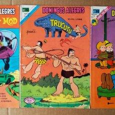 Giornalini: LOTE DOMINGOS ALEGRES (NOVARO, 1973-1974). N° 991-1015-1041. FERD'NAND / TRUCUTÚ / EL CORREDOR MOD. Lote 170354516
