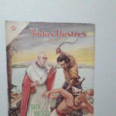 Tebeos: VIDAS ILUSTRES N° 40 - TATA VASCO - ORIGINAL EDITORIAL NOVARO. Lote 170405844