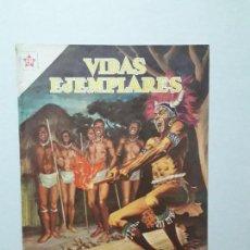 Tebeos: VIDAS EJEMPLARES N° 82 - LOS MÁRTIRES DE UGANDA - ORIGINAL EDITORIAL NOVARO. Lote 170406208